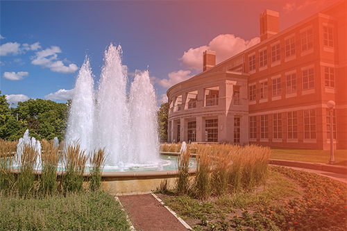Alumni fountain