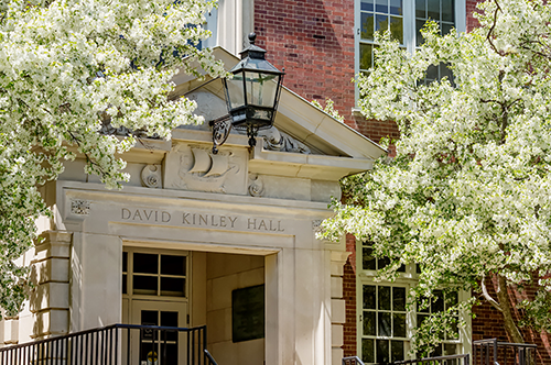 Front exterior of David Kinley Hall