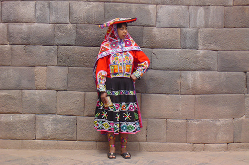 A woman dressed in traditional clothing in Peru