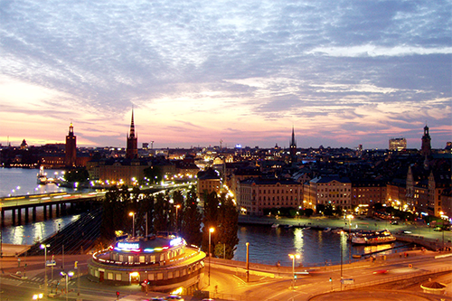 A view of a portion of the Stockholm skyline