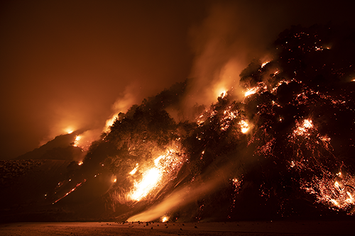 Wildfire in California