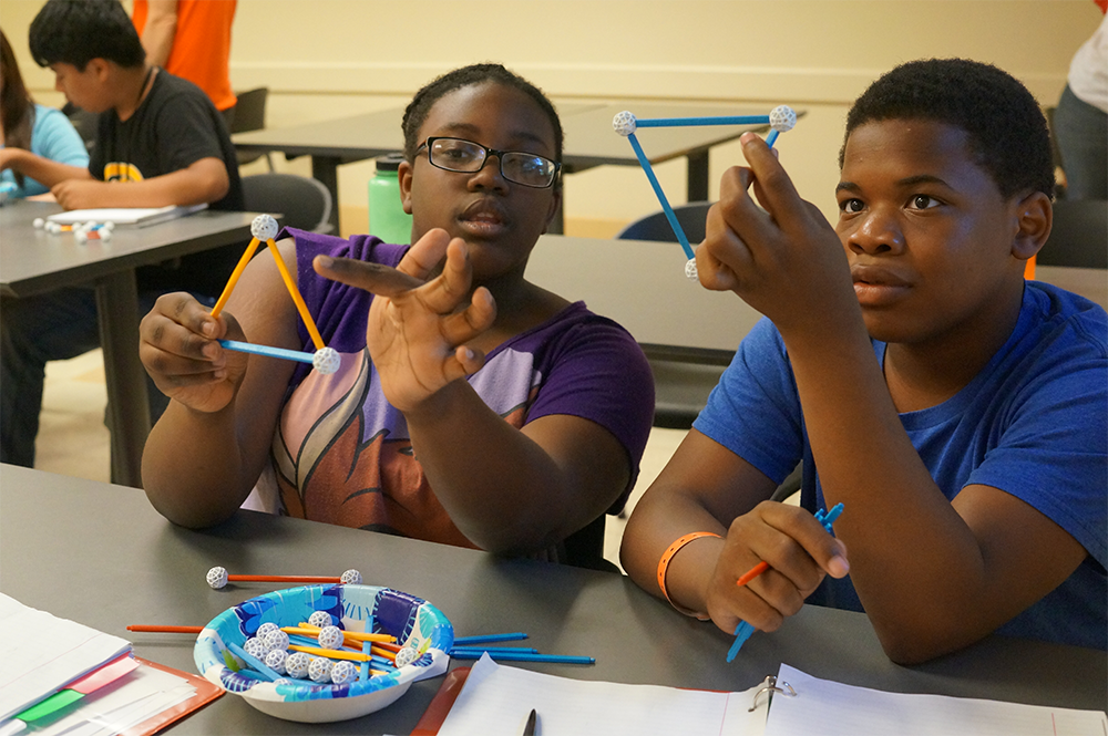 Programs at the Bridge to Enter Advanced Mathematics, founded by an LAS alumnus, are designed to create pathways for underserved children to enter STEM fields. (Photo courtesy of Daniel Zaharopol.)