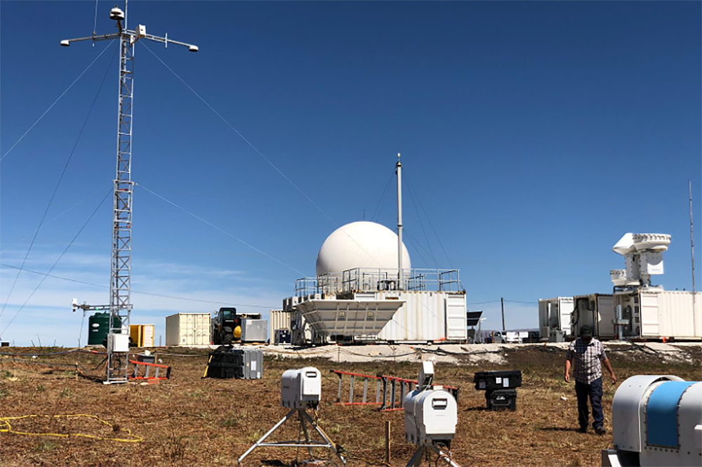 The Department of Energy CACTI site is up and running and set to observe cloud-aerosol-precipitation interactions in Valle Calamuchita in Argentina. (Image courtesy of DOE ARM.)