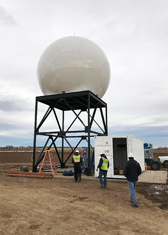The University of Illinois is deploying this C-Band dual-polarization radar system on loan from Colorado State University for RELAMPAGO. (Image courtesy of Colorado State University.)