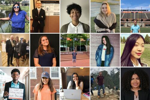 A collage of fifteen students who have contributed to the LAS Insider blog.