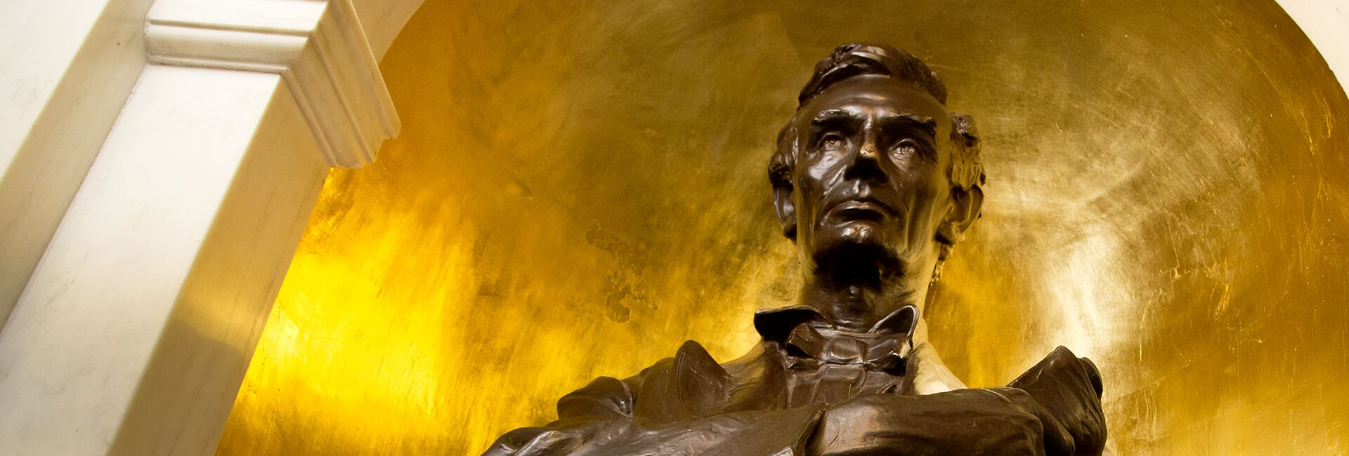 The Lincoln bust in Lincoln Hall