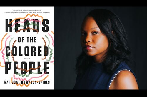 "Nafissa Thompson-Spires and her book, ""Heads of the Colored People"""