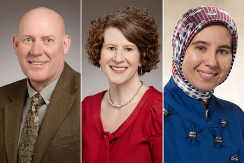 David Rivier, Mary Ramey, and Eman Saadah