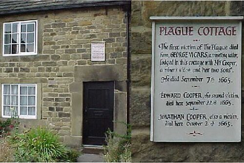 Plague cottage in Eyam, England
