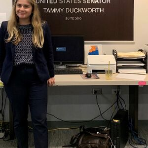Madalyn Velisaris is pictured at Sen. Tammy Duckworth's office during the summer of 2019.